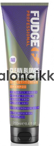 Fudge Clean Blonde Damage Rewind hamvasító sampon 250ml