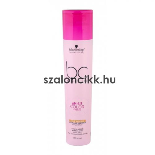 Schwarzkopf BC Ph4.5 Color Freeze Gold Shimmer Micellás hajsampon 250 ml