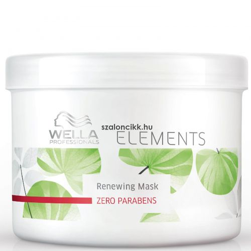 Wella Elements hajmegújító parabénmentes maszk 500ml