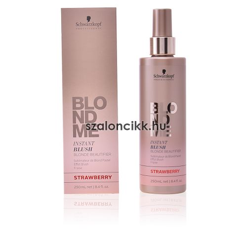 BlondMe színező spray hajbalzsam 250ml - strawberry