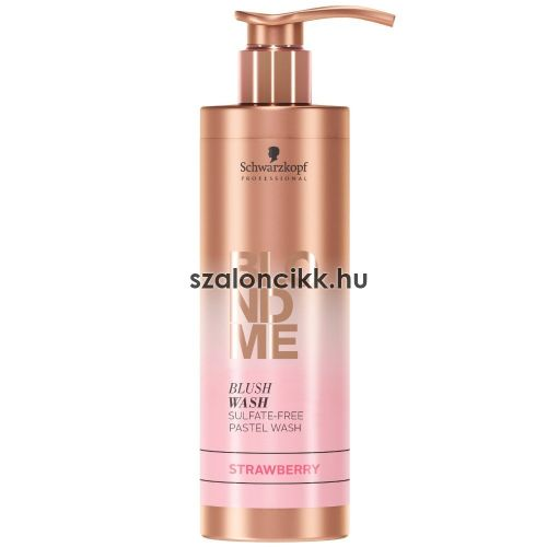 Blond Me Blush Wash szulfátmentes színező sampon Strawberry 250ml