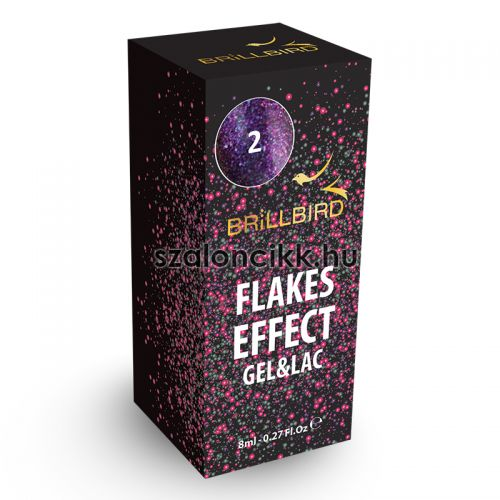 Flakes Effect Gél Lakk 2 - 8ml