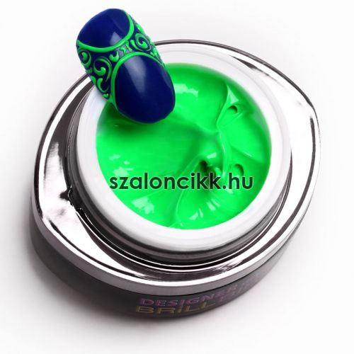 Designer gel 14- neon zöld (neon green) 3ml