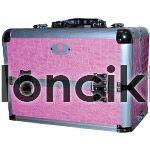 Trendi nagy fémtáska Crystal Nails logóval - Pink d1734bfefc